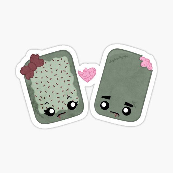 Zombie Toaster Pastry Love Sticker