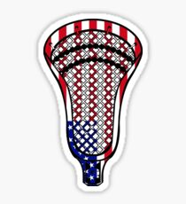 Pegatina Bandera de la cabeza de Lacrosse