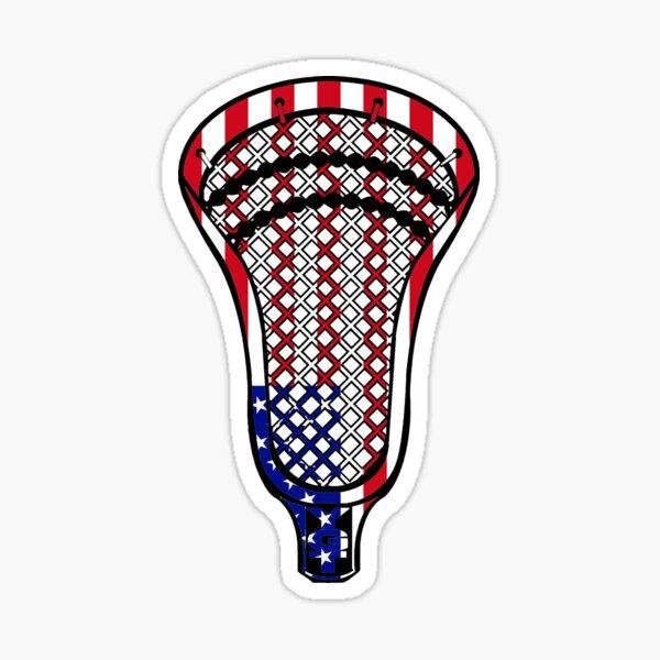 Lacrosse Head Flag Sticker