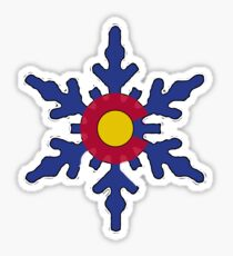 Colorado Flagge Schneeflocke Sticker