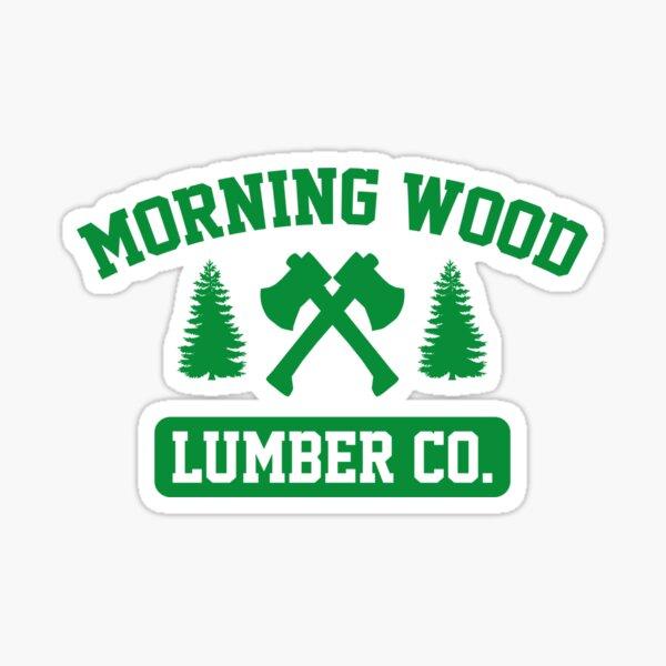 Mañana Wood Lumber Co. Pegatina