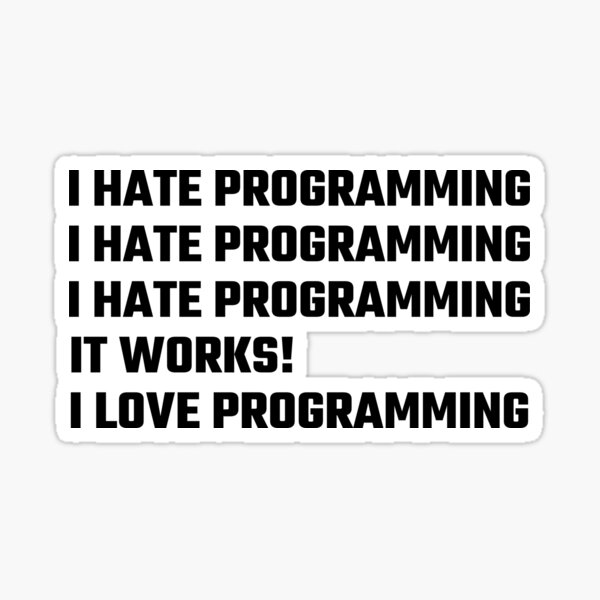 I Love Programming Sticker