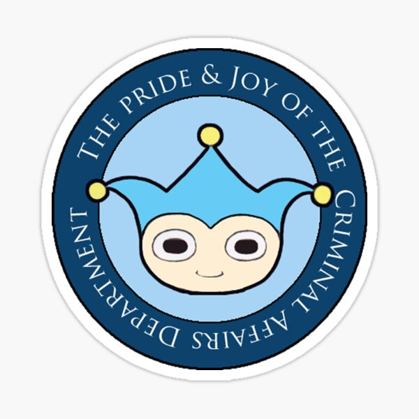 Blue Badger - Defender of truth, guardian of proof! Sticker