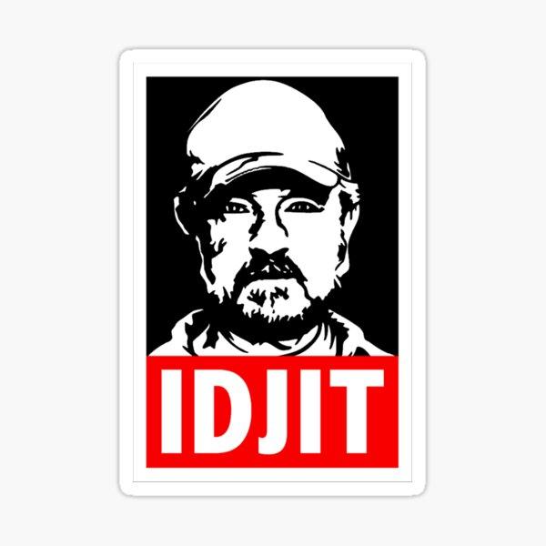 "Supernatural Bobby Singer ""IDJIT"" Sticker"