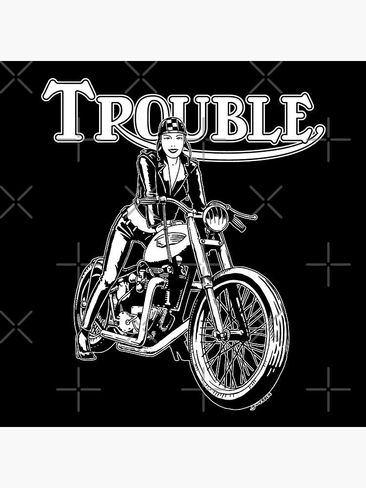 TROUBLE by gWebberArts