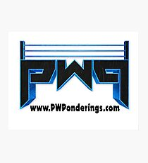 Pro Wrestilng Ponderings Logo Photographic Print