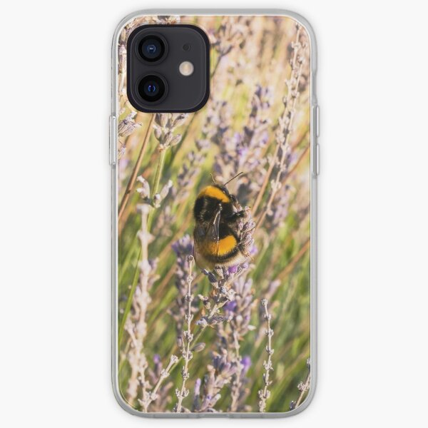 Bumble Bee and Lavender iPhone Soft Case