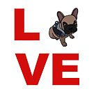 «Amor bulldog francés perro» de nijess