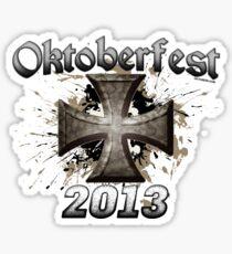 Oktoberfest Iron Cross 2013 Sticker