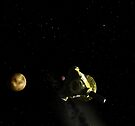 Pluto Flyby by Ray Cassel