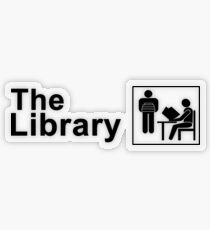 The Library Logo in black Transparent Sticker