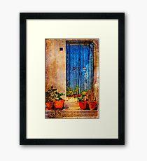 Blue Door - Vintage Framed Print