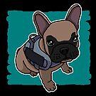 «Bulldog francés, perro, dibujo, dulce» de nijess