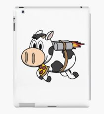 Cow Eating Pizza Wearing a Jetpack iPad Case/Skin