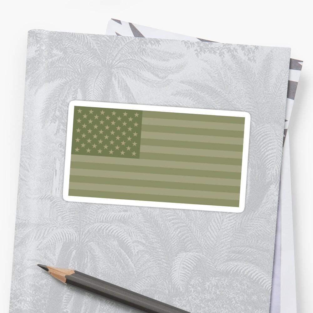Camo Sternenbanner - USA Flagge militärische Camouflage Farben Sticker