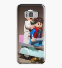 Marty and Doc ride a Scooter Samsung Galaxy Case/Skin