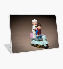 Marty and Doc ride a Scooter Laptop Skin