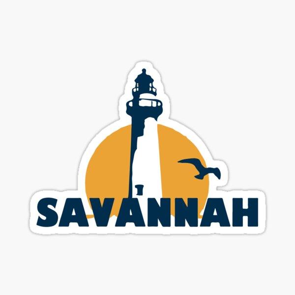 Savannah's Beach-Georgia. Sticker