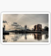 Bridge over Salford Quays, Manchester, UK Sticker