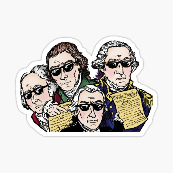 Founding Father Dudes Sticker