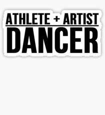 Pegatina Atleta + Artista = Bailarín