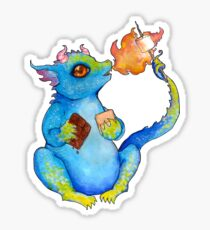 S'more Dragon Glossy Sticker