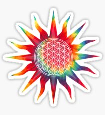 Flower of Life (tie-dye sun) Sticker