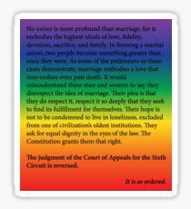 Homesexuelle Hochzeit Sticker