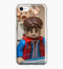 Marty and Doc go for a ride iPhone Case/Skin
