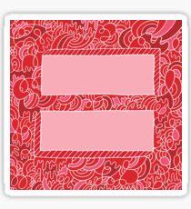 Equality Doodle Equal Sign Sticker