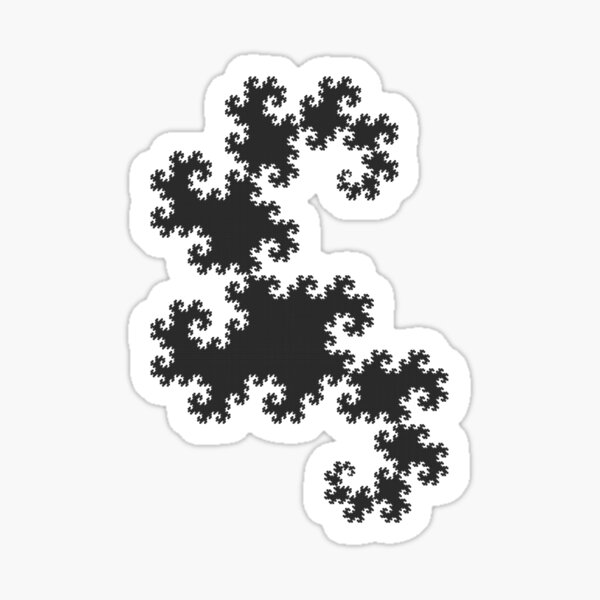 Dragons curve fractal Sticker
