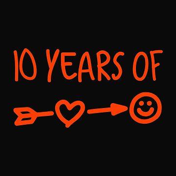 10 Years Of Love Wedding Anniversary by 64thMixUp
