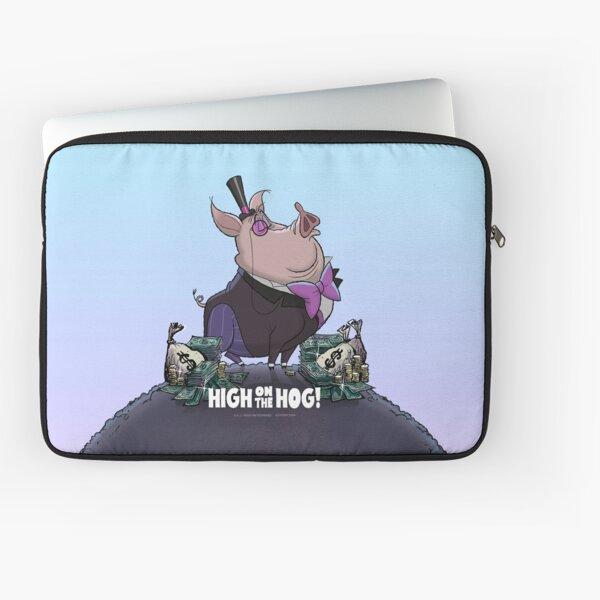 """A. J. HOGG  """"HIGH ON THE HOG!"""" Laptop Sleeve"""