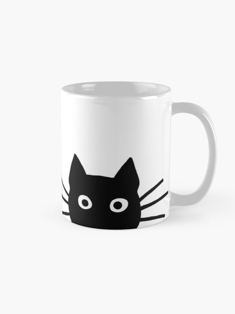Alternate view of Black Cat Face Mug