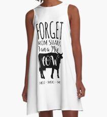 Vestido acampanado Olvídate, mamá, tiburón, soy una madre, una vaca.