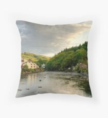 Evening in Backbarrow Throw Pillow