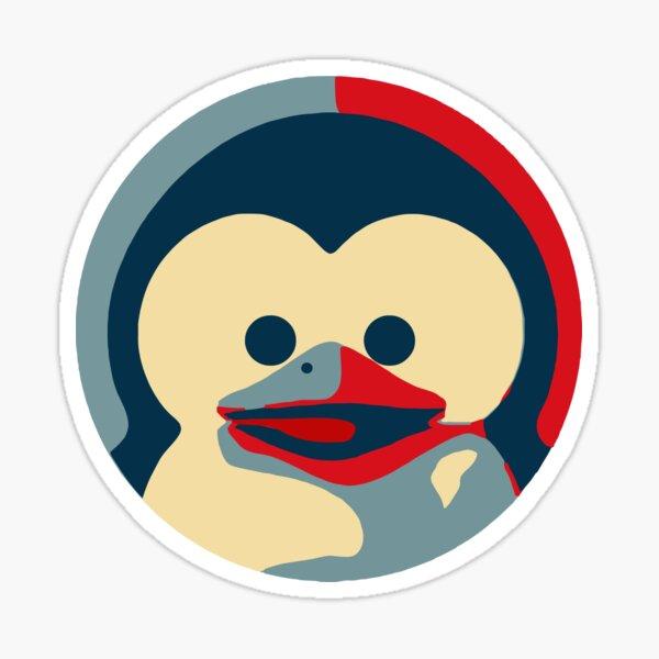 Linux tux penguin obama poster baby  Sticker