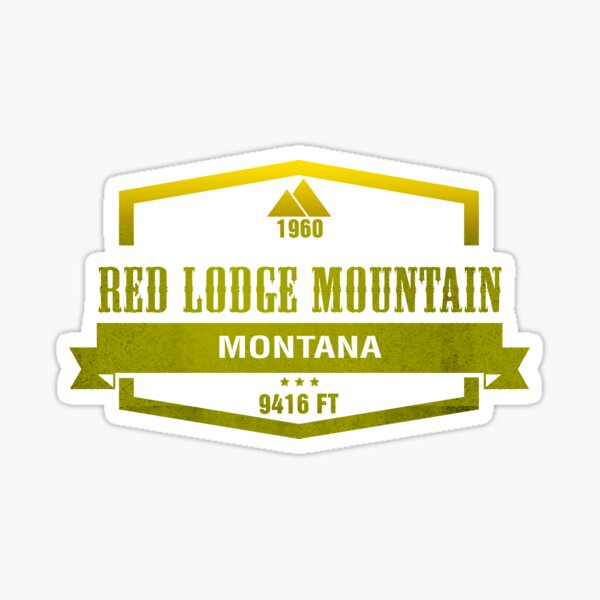 Red Lodge Mountain Ski Resort Montana Sticker