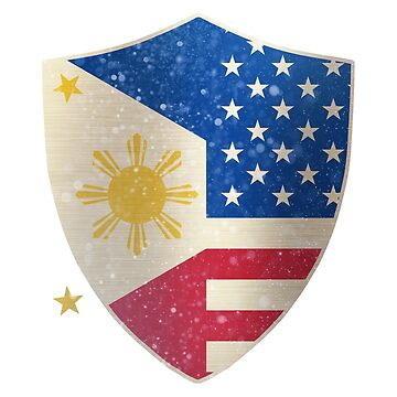 Philippines American Shield by ockshirts