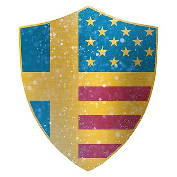 Sweden American Flag Shield copy by ockshirts