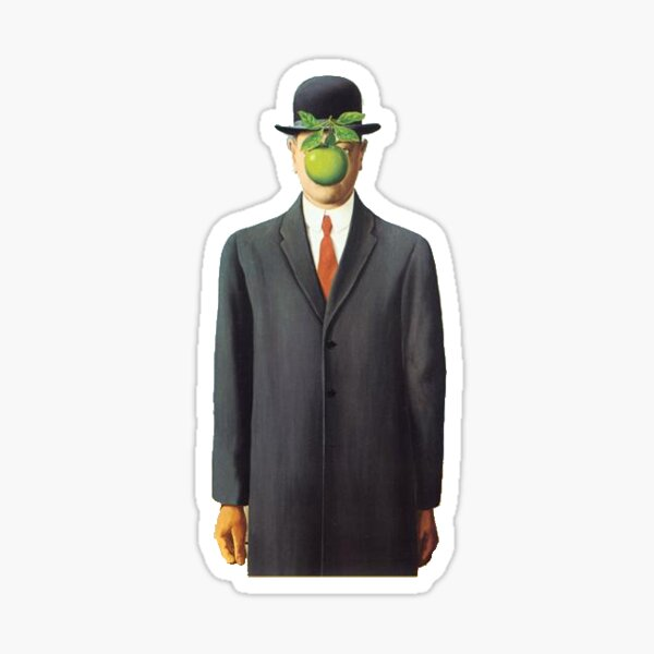 """Magritte's """"The Son of Man"""" Sticker"""