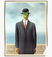 """Magritte's """"The Son of Man"""" Poster"""