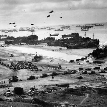 Normandy Landing World War 2 Vintage by historicalstuff