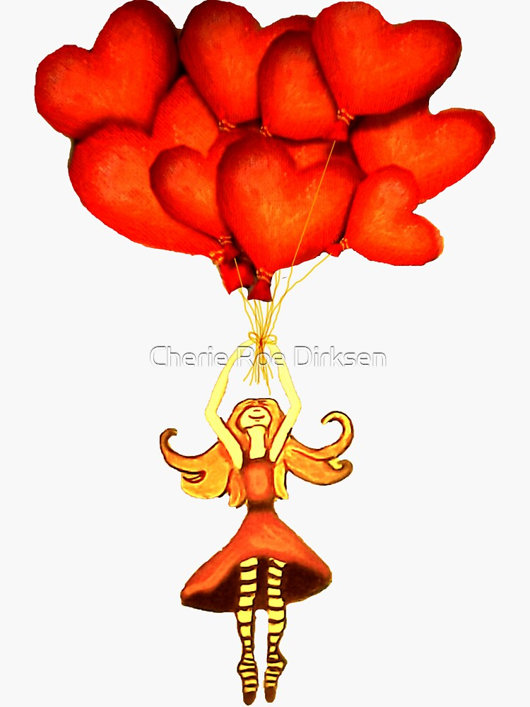 Flying High with my Heart-Shaped Balloons by cheriedirksen