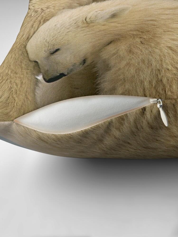 Alternate view of Polar bear Throw Pillow