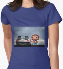 Outatime with Marty McFly Womens Fitted T-Shirt