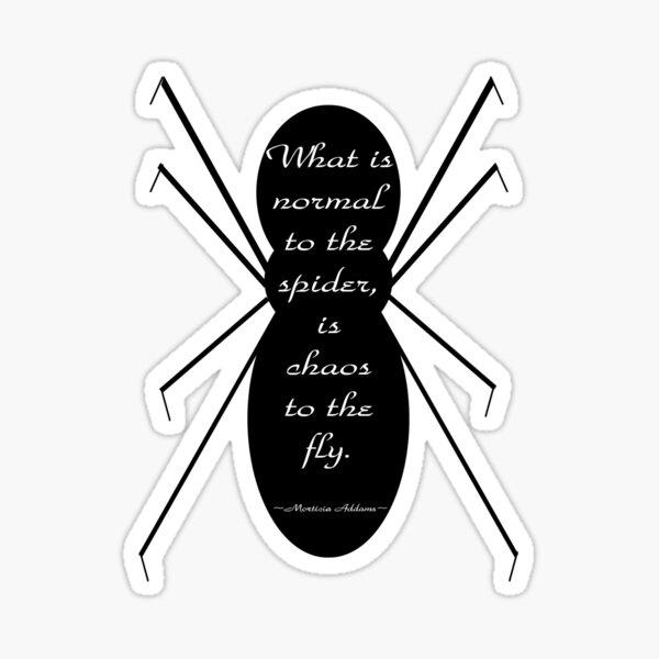 Morticia Addams Spider Quote Sticker