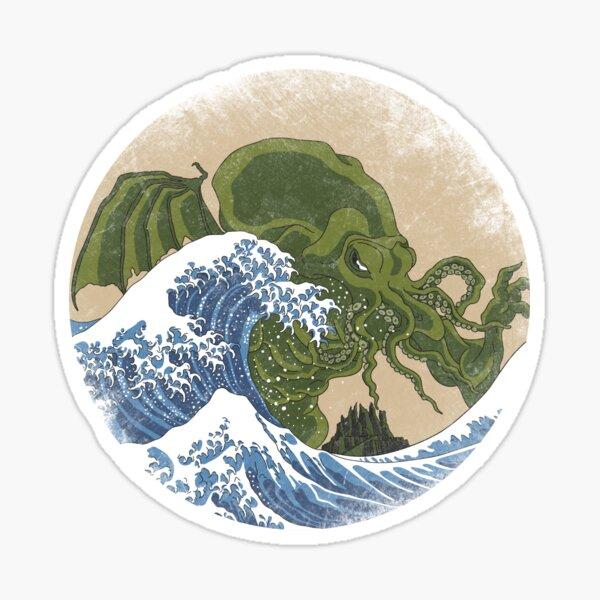 Hokusai Cthulhu Sticker