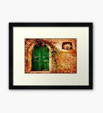 Green Door - Vintage Framed Print