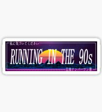 Car Slap - Running in the 90s Sticker